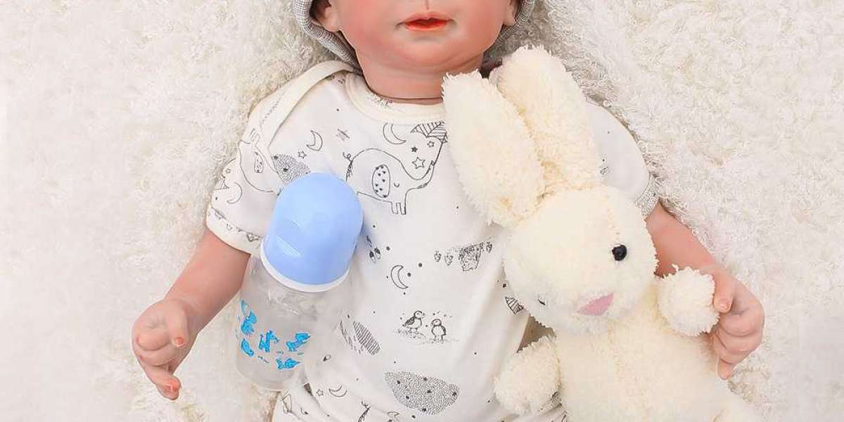 Realistic Doll With Pretty Knit Set