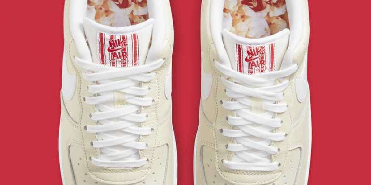 """Nike Air Force 1 Low PRM """"Popcorn"""" 2021 New Arrival CW2919-100"""