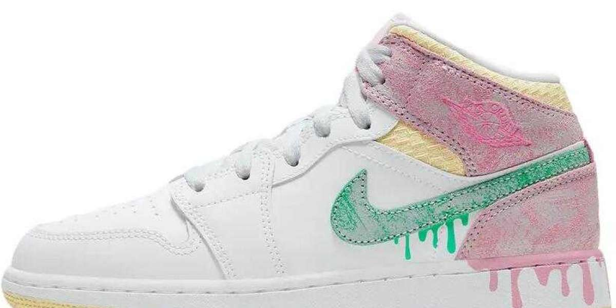 Are You Ready for Air Jordan 1 Mid GS Paint Drip Shoes ?