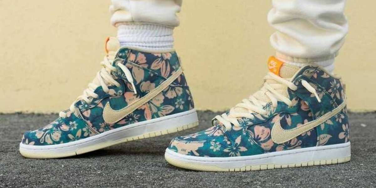 """CZ2232-300 Nike SB Dunk High """"Hawaii"""" will be officially released this year"""