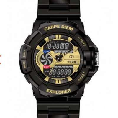 Explorer 5ATM Waterpoof Sports Watch by Carpe Diem (BLACK GOLD) Profile Picture