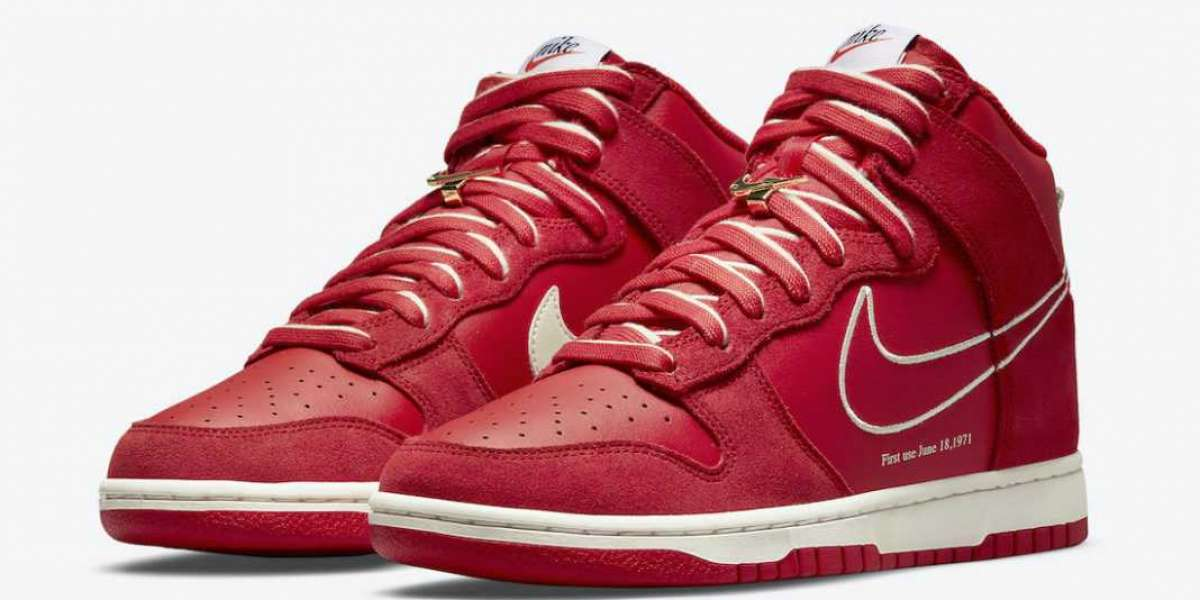 """2021 New Nike Dunk High """"First Use"""" University Red/Sail DH0960-600 Hot sell online!"""