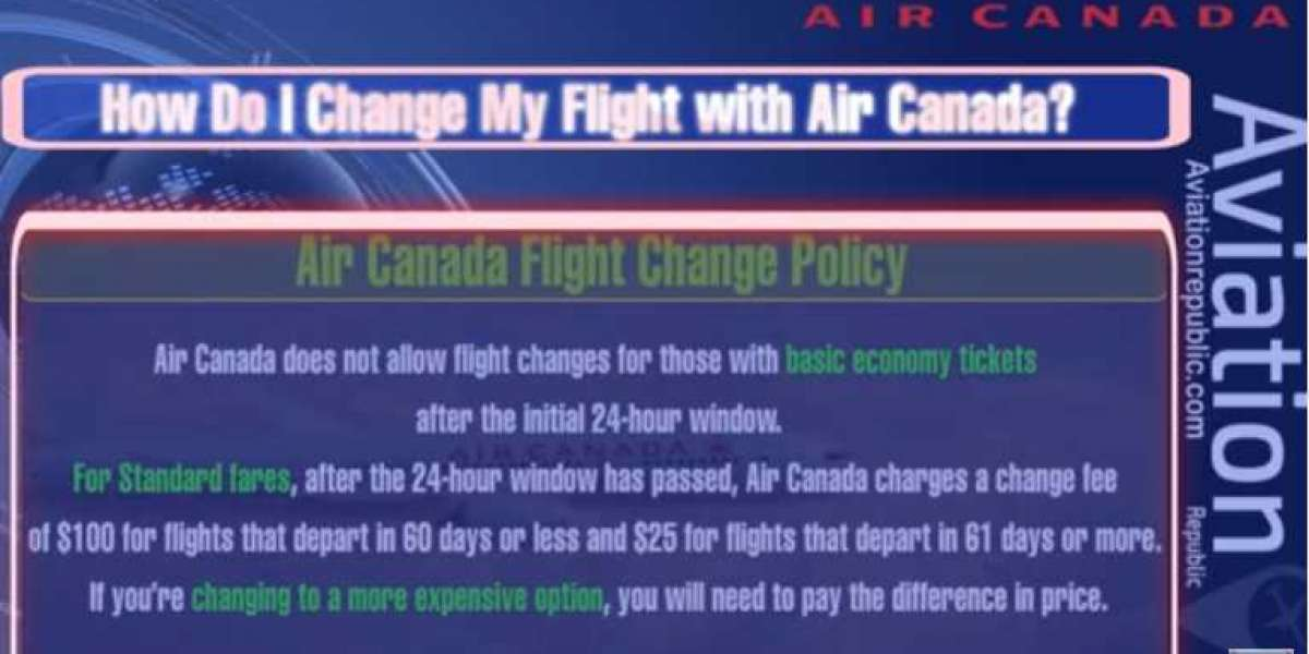 How Do I Change My Flight with Air Canada?